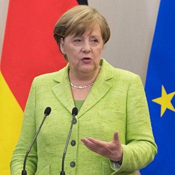 Переговоры президента РФ В. Путина с федеральным канцлером ФРГ А. Меркель