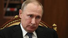 Рабочая встреча президента РФ В. Путина с главой Северной Осетии - Алании В. Битаровым