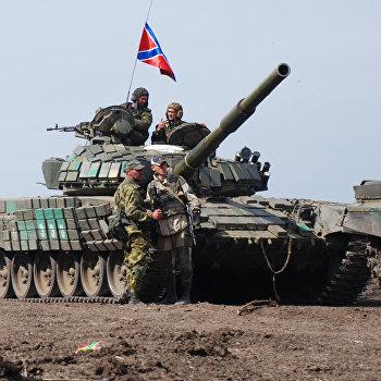 Учения мотострелкового батальона Викинги ополчения ДНР