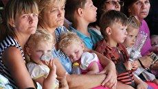Пункт приема переселенцев в Симферополе