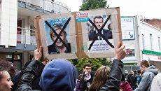 Митинг против кандидатов в президенты во Франции
