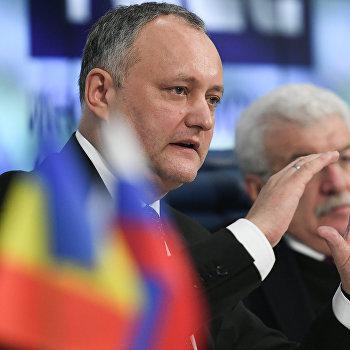 Пресс-конференция президента Республики Молдова И.Додона