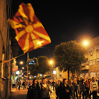 Акции протеста в Македонии
