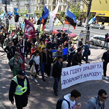 Акция в Киеве против принятия нового Трудового кодекса