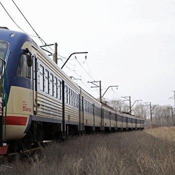Первый пассажирский электропоезд отправился в Луганск со станции Ясиноватая в Донецкой народной республике