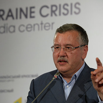 Пресс-брифинг кандидата на пост президента Украины Анатолия Гриценко
