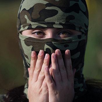 Женское подразделение батальона Русь в Донецке