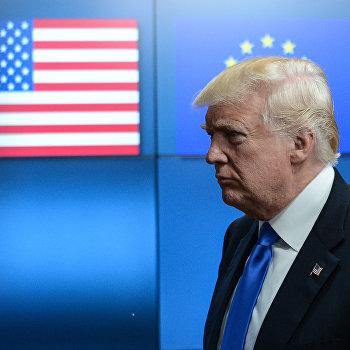 Президент США Дональд Трамп встретился с лидерами ЕС в Брюсселе