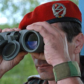 Совместные учения парашютистов бундесвера и псковских десантников