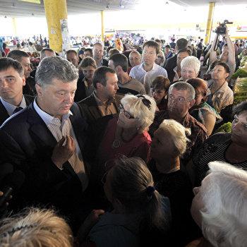 Кандидат в президенты Украины П.Порошенко в Одессе