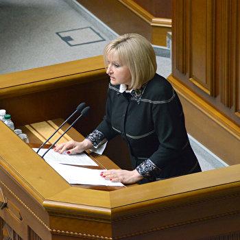 Депутат верховной рады от фракции Батькивщина Ирина Луценко