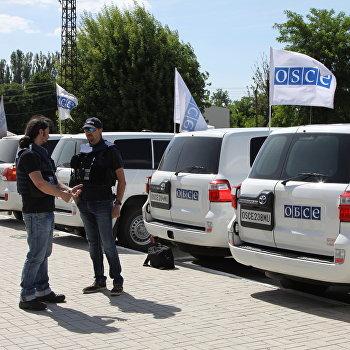 Первый замглавы СММ ОБСЕ на Украине А. Хуг посетил г. Ясиноватая в Донецкой области