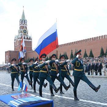 Выпуск курсантов и кадетов вузов МЧС России на Красной площади