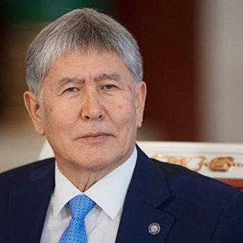 Президент РФ В. Путин провел переговоры с президентом Киргизии А. Атамбаевым