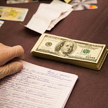 доллары, взятка, обыск