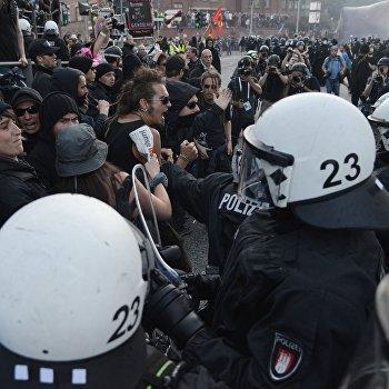 Акции протеста в Гамбурге