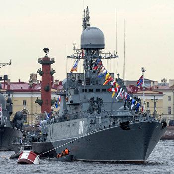 Осмотр кораблей ветеранами ВМФ