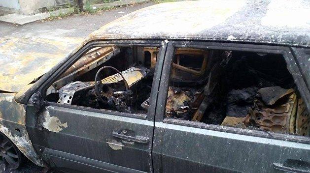 В Харькове подожгли автомобиль главреда Insider