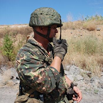 Военные учения в Донецке