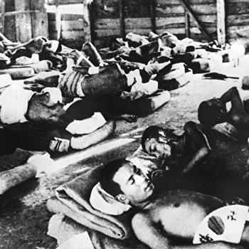 Жители Хиросимы, пострадавшие от ядерной бомбардировки