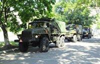 Колонна украинской военной техники двинулась в сторону Крыма