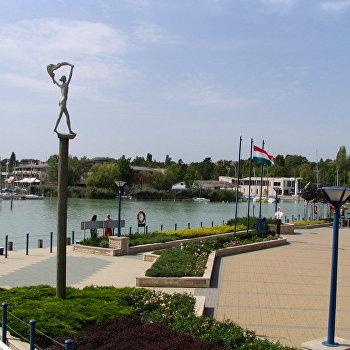 Гавань Балатонфюреда Курортная столица северного берега Балатона Венгрия