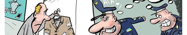 карикатура налог на вещи в комиссионке