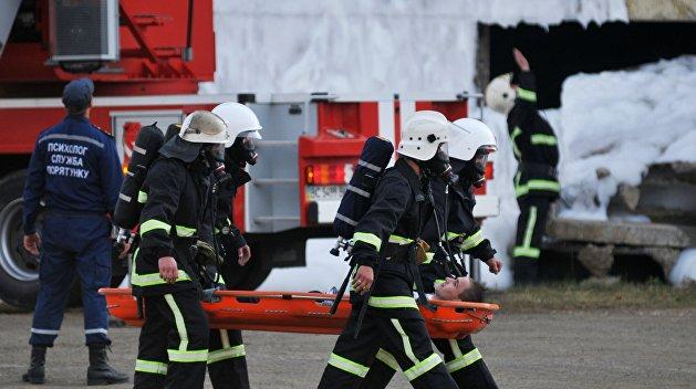 В Киеве эвакуируют три этажа бизнес-центра, где находятся «Вести» из-за пожара