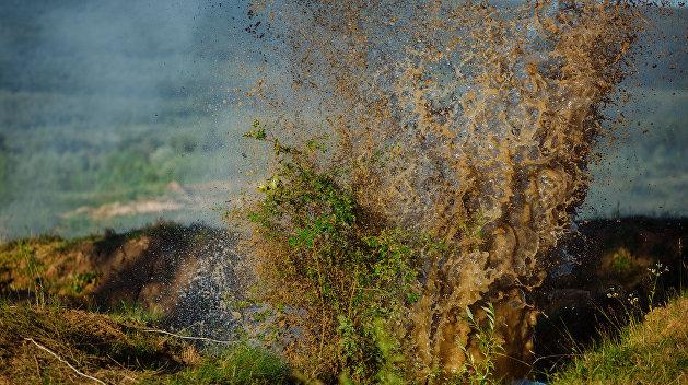 Граната взорвалась вруках военного вукраинском поселке