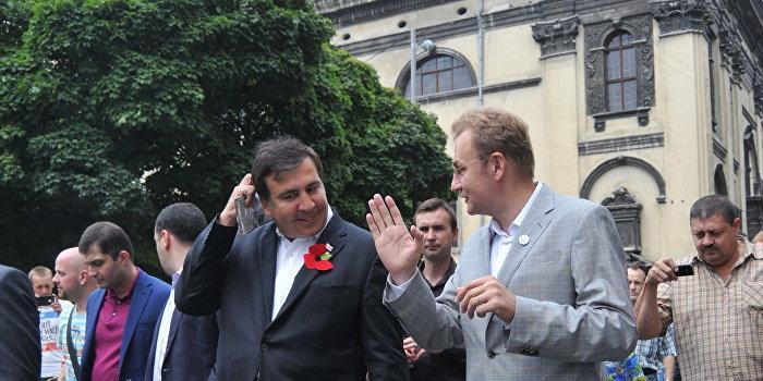 Экс-президент Грузии М.Саакашвили посетил Львов