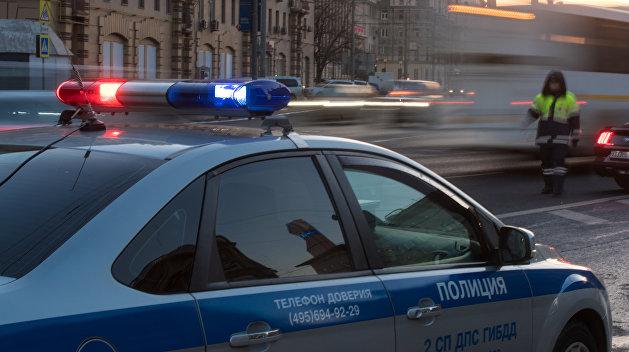 Работа сотрудников ДПС в Москве