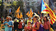 Акция в поддержку референдума в Барселоне