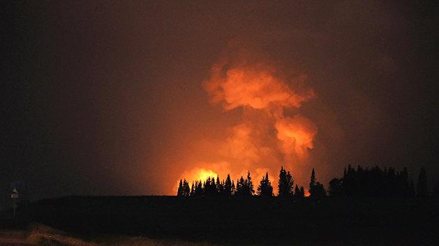 ВДонецкой области взорвался склад боеприпасов