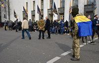 Командир «Национальных дружин» рассказал о собаках в желто-синих флагах