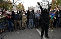 На МихоМайдане протестующие подрались с полицией