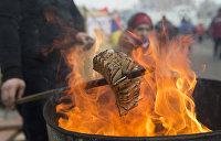 Белорусские пограничники уничтожили незаконное украинское сало