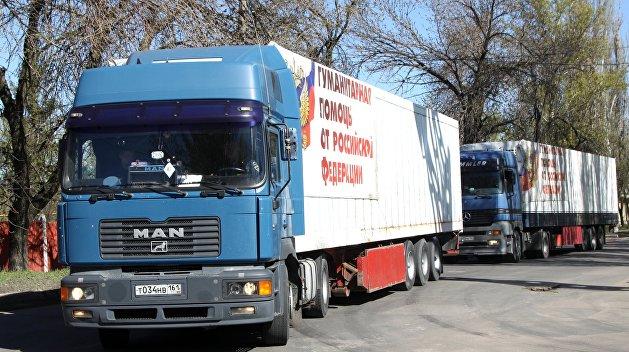 Колонна МЧС везет более 500 тонн гуманитарного груза в Донбасс
