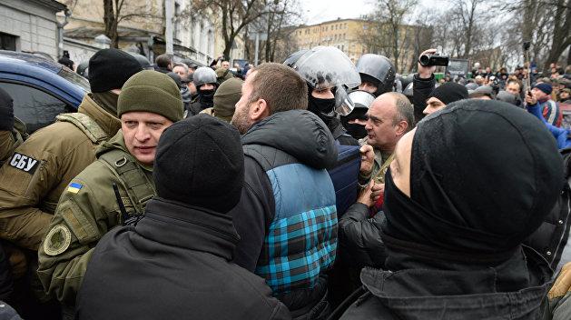 Вовремя беспорядков вКиеве задержали девять приверженцев Саакашвили