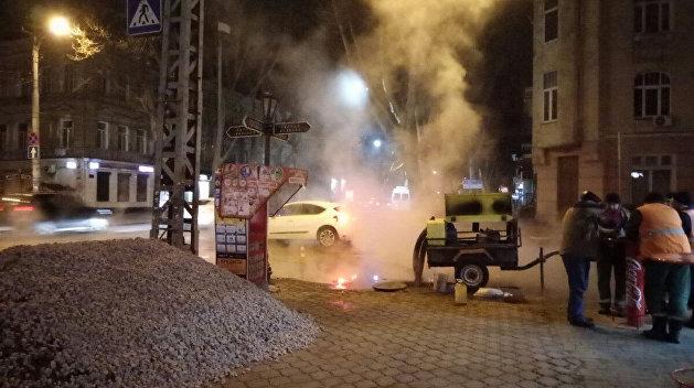В Одессе произошел мощный прорыв теплотрассы