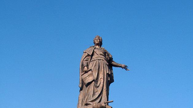 Политолог: Националисты разрушат памятник Екатерине в Одессе