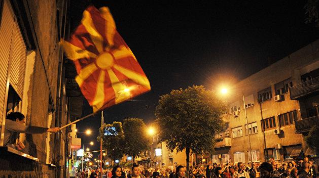 ВМакедонии состоялся митинг против переименования страны