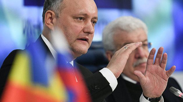 Додон поведал, чем угрожает Молдавии приостановка транзита русского газа через государство Украину