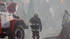 В Днепре устанавливают причину пожара на территории православного храма