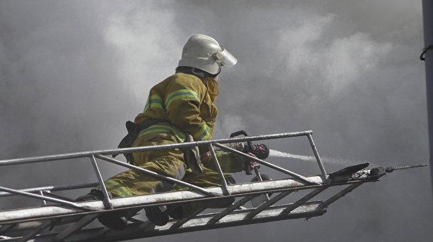 Во Львове сгорел объект Минобороны Украины