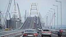 На Крымком мосту произошло первое ДТП
