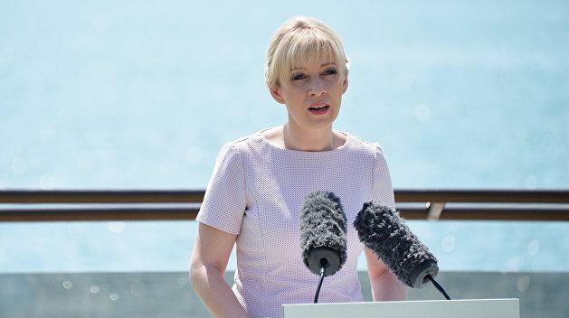 Захарова: Проживание и питание экипажа судна «Норд» обеспечивает посольство РФ в Киеве
